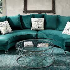 l shaped colorful velvet sleeper sofa