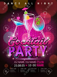 Poster Design Party Fantastic Cocktail Party Poster Design With Abstract Background
