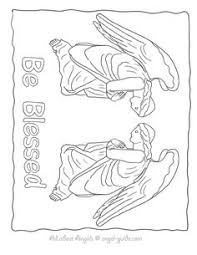 Small Picture Free Angel Coloring Pages Angel Drawings to Print from our Black