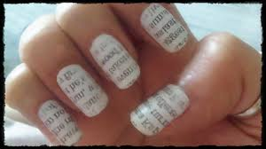 easy nail art tutorial newspaper quick diy step by step nails new nails