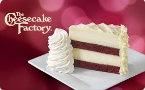 gift card showing red velvet cheesecake