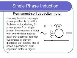 1 single phase induction permanent split capacitor motor