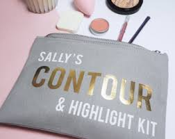 personalised contour kit make up bag cosmetics case gift for her las beauty