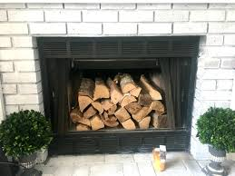 before of the brick fireplace
