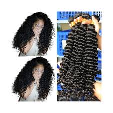Deep Wave Brazilian Virgin Hair Weave Bundles 100 Human