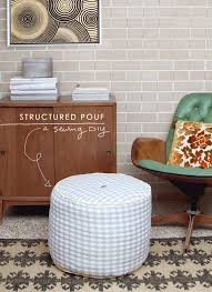 DIY | Structured Pouf/Ottoman