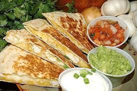 mexican food quesadilla. Plain Quesadilla Chicken Quesadilla Served With Taco Salad With Mexican Food I