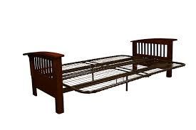Amazon.com: Brentwood Mission-Style Futon Sofa Sleeper Bed Frame ...