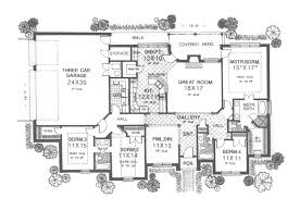 traditional house plan first floor 036d 0124 house planore