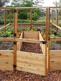 8 raised cedar garden bed with deer fence