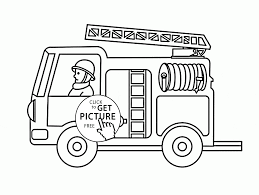 Small Fire Truck Coloring Page For Toddlers Transportation Coloring