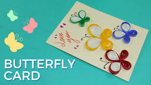 Paper Quilling Card Design Butterfly Greeting Card Pattern Simple