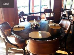 turn your round table into a larger round photo courtesy harborside yacht club