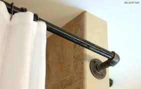 black curved shower rod best ideas about industrial shower curtain rods on black shower curtain rod