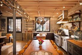 farmhouse kitchen industrial pendant. farmhouse industrial kitchen with steel joists electric gas and ranges pendant a