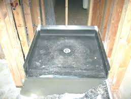 tile shower pan installation barrier free redi trench drain