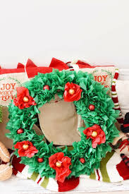 tissue paper chocolate candy wreath 1