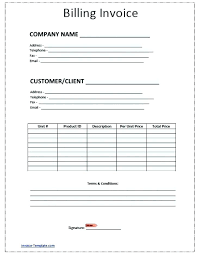 Billing Form Template Invoice Forms Template Idmanado Co