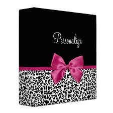 Print Binder Girly Personalized School Binders For Young Women Oh So