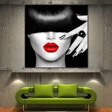 image is loading red lips face modern canvas home fine wall  on red black white wall art with red lips face modern canvas home fine wall art prints black white