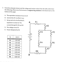 Solved Given The Schematic Shown And The Voltage The Foll