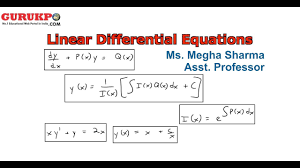 linear diffeial equation of second order lecture bsc maths by megha sharma