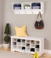 hallway furniture entryway. Storage Bench Coat Rack Entryway Set Shelf Shoe Organizer Hallway Furniture G
