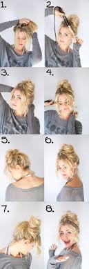 messy blonde bun hair cuts 2016 trends tutorial