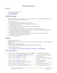 resume template open office