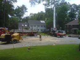 new tree crane service advance tree care of virginia beach va