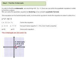 graphing quadratic equations example 1