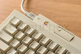 apple thailand office. BANGKOK, THAILAND - MAY 06, 2015: The Apple Keyboard II On Desktop. A Minor Update To Extended Coincide With Release Of Thailand Office