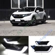 Drl Light Honda Crv Details About Exact Switchback White Led Drl Lights Fog Lamp Turn Signal For Honda Crv 17 18