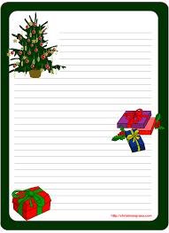 Christmas Letter Stationery Templates Major Magdalene