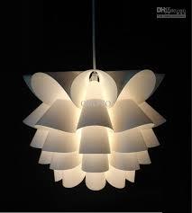 classy modern hanging lamp diy lotus plastic pendant dining living room suspension light bedroom small size corrider balcony fixture plug in design bedside
