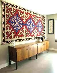 hanging a rug wall hanging area rug on wall