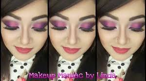 ombre pink and purple eye makeup tutorial makeup maniac by linda you