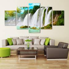 Living Room Paintings Art Aliexpresscom Buy 5 Pieces Set Wall Art Pictures Nature Scenery
