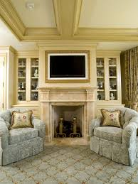 framed tv above fireplace maybe for the new house