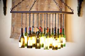 custom made wine bottle chandelier