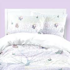 woodland bedding purple nursery dler girl little girls kids duvet cover