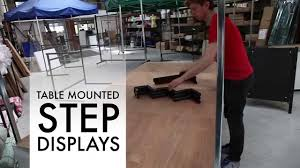 table mounted step display for market stalls and street traders
