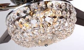 awesome chandelier style light kit for ceiling fan crystal fans with