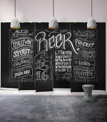 sweet ideas beer wall art chalkboard mural wallpaper republic design black themed decor cap bottle can