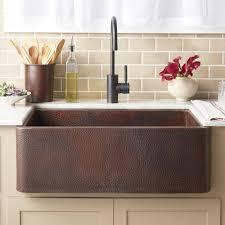 Copper Kitchen Decorations Kitchen Copper Double Bowl Apron Front Kitchen Sink With Floral