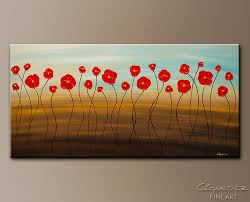 hungarian poppies abstract art painting image by carmen guedez