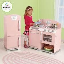 Retro Play Kitchen Set Kidkraft Pink Retro Kitchen And Refrigerator Toysrus
