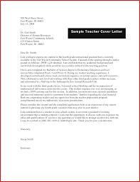 Unique Teacher Cover Letters Formal Letter