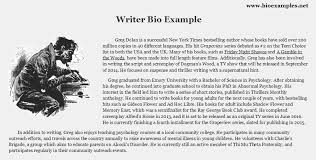 Outline For Writing A Biography Writer Bio Example Artist Bio Example Artist Bio Writer