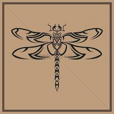 Dragonfly Tattoo Design Vector Image 1446539 Stockunlimited